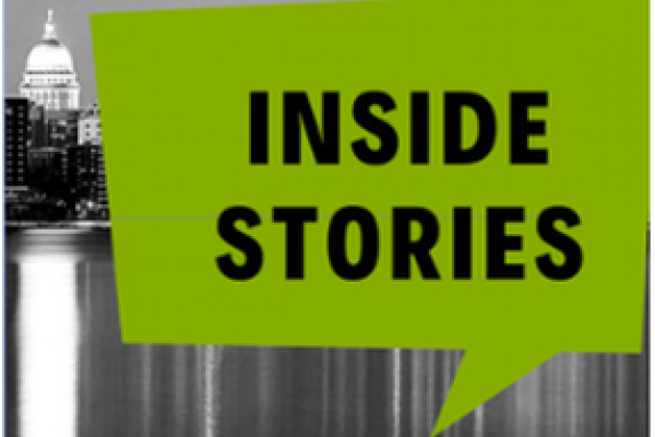 logo for Inside Stories podcast