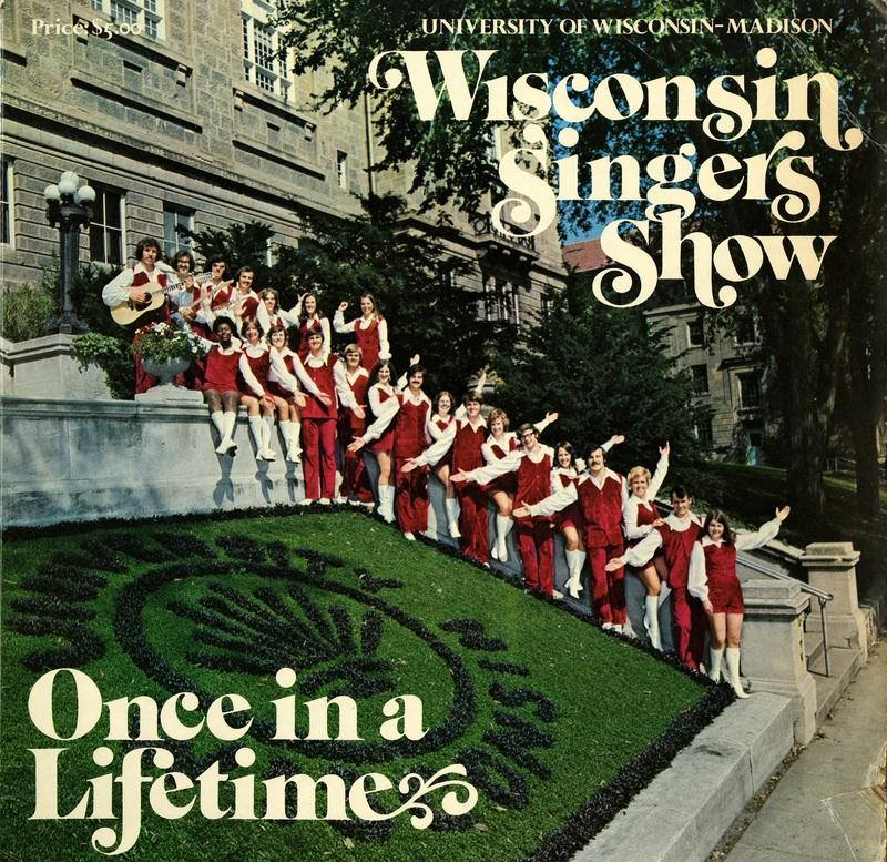 """Album cover, Wisconsin Singers, """"Once in a Lifetime"""""""
