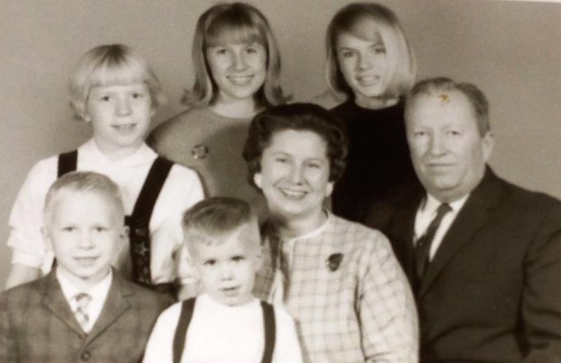 Mary and John Miller family, ca. 1965