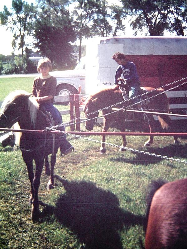 Pony rides at Westmorland neighborhood 4th of July, ca. 1968