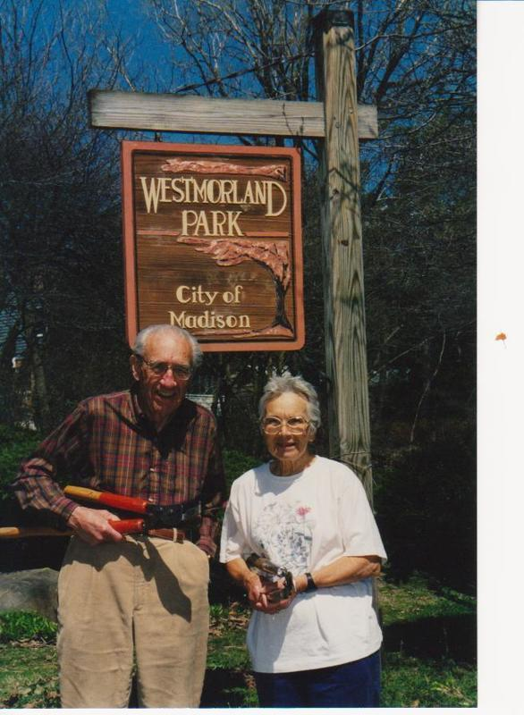 Jerry and Ronny Saeman, Westmorland Park cleanup, 1998