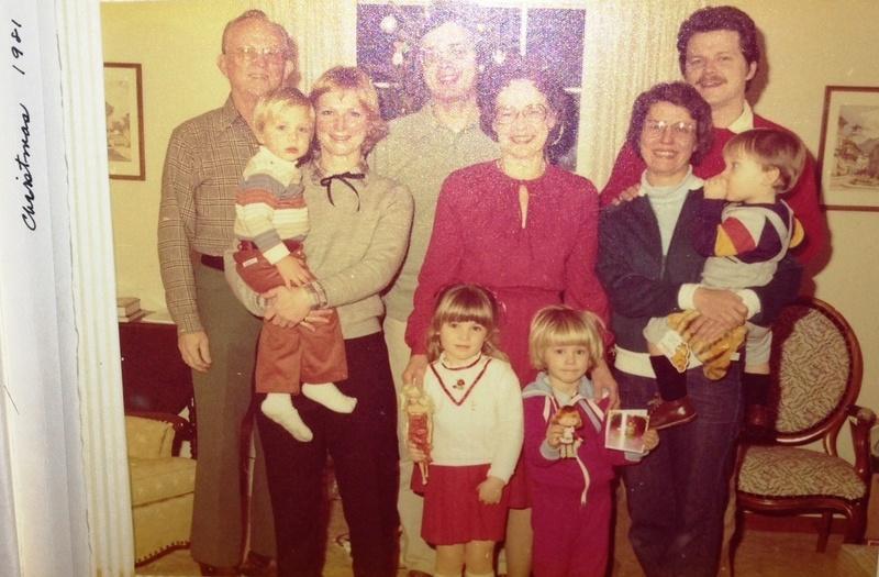 Skowlund family, Christmas Day, 1981