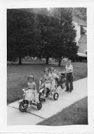 Cross children on July 4th, 1957