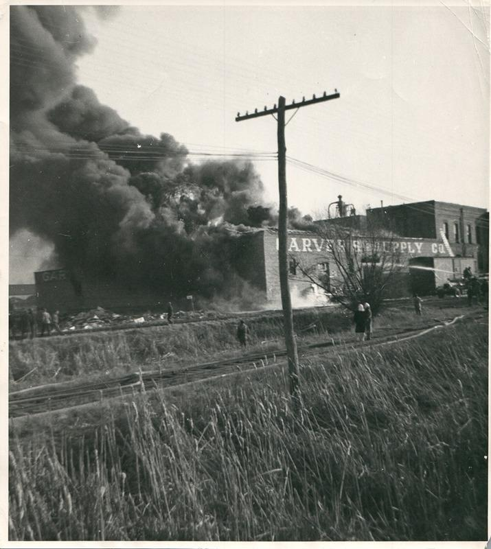 Fire at Garver Feed Mill, 1946