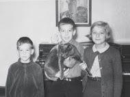 Inhorn children with cat, 1965