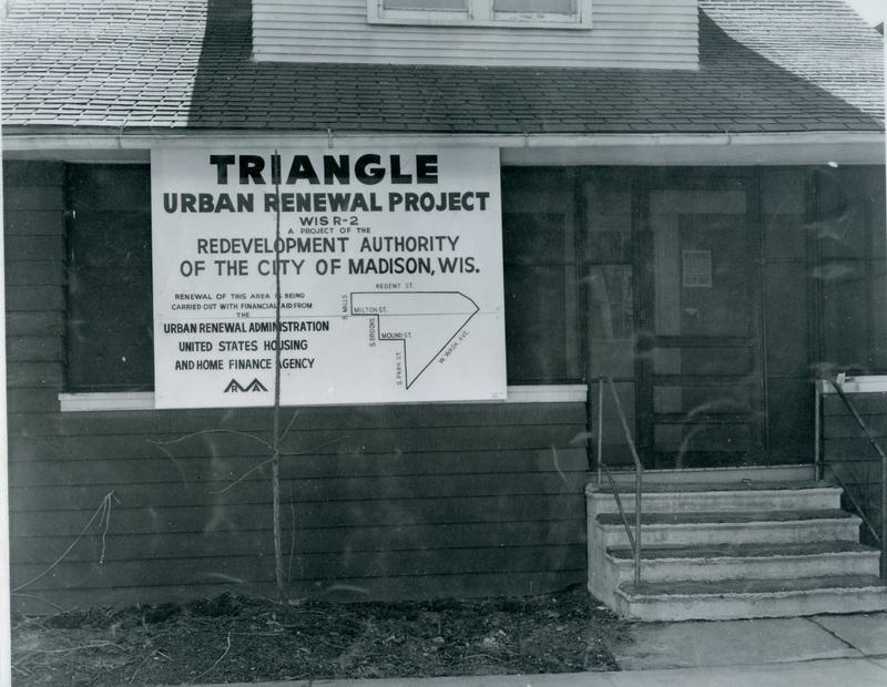 Photo of Triangle Urban Renewal sign
