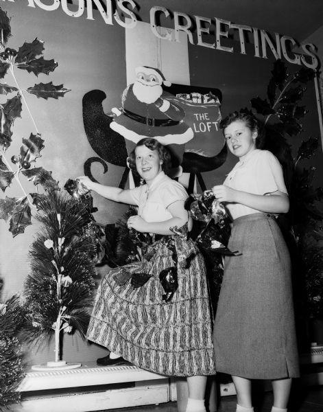 Photo of Holiday decorating at the Loft