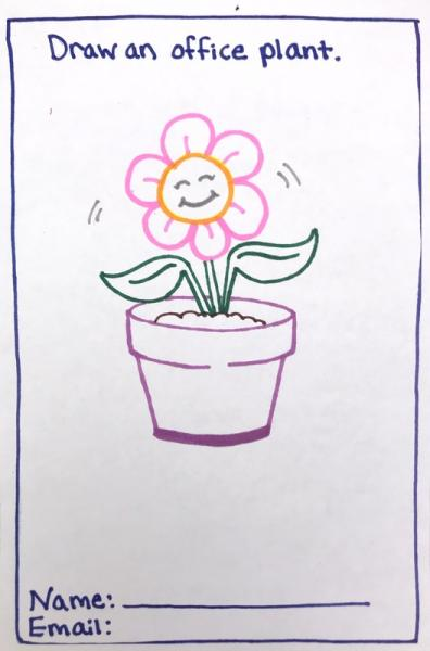Smiling flower in pot, Municipal Restored, 2018