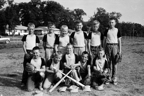Rentschler West Midget Midvale baseball team, 1958