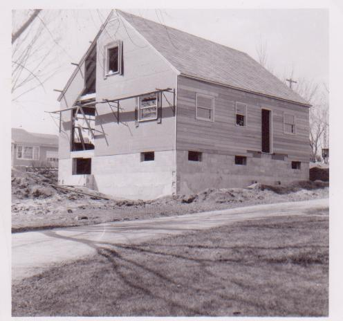 461 Westmorland Blvd, mid-construction, 1951