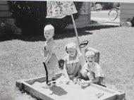 Inhorn children playing in sandbox, 1962