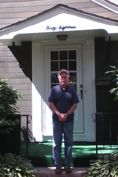 Kent Liska in front of 4018 Euclid Ave, 2013