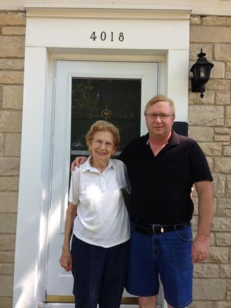 Mary Miller and son Dale Miller, 2013
