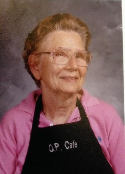 Mary Miller, Queen of Peace School hot lunch program staff, 2000